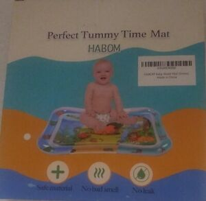 Habom Perfect Tummy Time Mat Baby Water Mat Green Safe Material No Leak No Smell