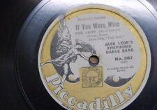 78 rpm JACK LEON BAND if you were mine / smiling irish eyes , piccadilly 387