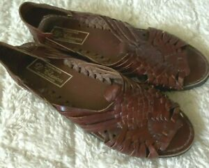 Huaraches Mexican Leather Sandals Tire Soles 8.5 Men's Woven Handmade D'CLASICOS