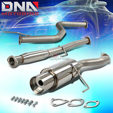 "4.5"" Muffler Tip Stainless Steel Exhaust Catback System For 92-00 Civic 2/4Dr"