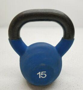 15 lb Single Kettlebell Golds Gym Blue 15 Pounds