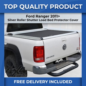 FORD RANGER 2011> SILVER ROLL TOP ROLLER SHUTTER LOAD BED COVER LOCKABLE TONNEAU