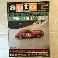 RIVISTA AUTO ITALIANA 6/1969 PORSCHE 911 S PROTOTIPO ITALO-SVIZZERO TASMANIA
