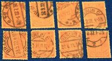 Germany 8 used Official stamps Scott #O10 (x8)