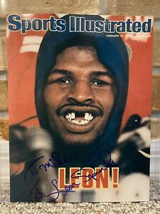 LEON SPINKS SIGNED AUTO 9.5x8 BOXING PHOTO HOF HEAVYWEIGHT CHAMPION TO MIKE 234