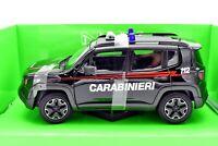 MODELLINO AUTO JEEP RENEGADE ARMA CARABINIERI SCALA 1:24 CAR MODEL DIECAST WELLY
