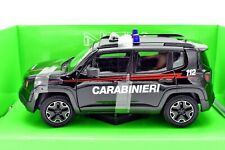 MODELLINO AUTO JEEP RENEGADE ARMA CARABINIERI SCALA 1:24 CAR MODEL DIECAST WELLY