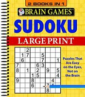Brain Games Sudoku 2 in 1 Large Print by Publications International, Ltd Book