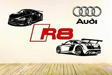 R8 GT Racing Super Sport Car Removable Wall Vinyl Decal Sticker Packages