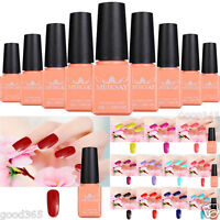 Pro Manicure Nail Art Tips Soak Off Glitter Color UV Gel Polish DIY Manicure 8ml