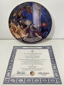 "Royal Doulton The Dragon Master Myles Pinkney 8"" Limited Edition China Plate COA"