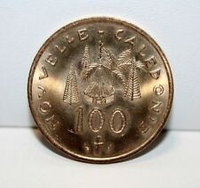 Francs Coin 100 1987 New Caledonia One Hundred