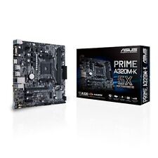ASUS PRIME A320M-K AMD AM4 HDMI USB 3.0 DDR4 uATX Motherboard with LED Lighting