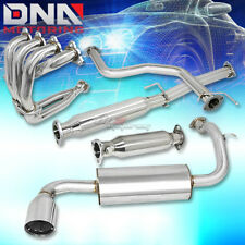 "FOR 88-91 CIVIC HATCH CATBACK EXHAUST MUFFLER 4.5"" TIP+MANIFOLD HEADER+TEST PIPE"