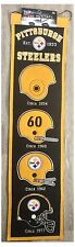 "Pittsburgh Steelers NFL CASCO EVOLUTION 8"" x 32"" Lana Heritage Banner Muro"