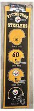 "Pittsburgh Steelers NFL CASCO EVOLUTION 8"" x 32"" Lana Heritage Banner Muro"