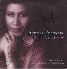 Aretha Franklin signed So Damn Happy cd sampler