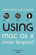 Using Mac OS X Snow Leopard by Johnson, Yvonne