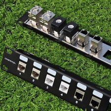 "24 Port 1U Blank Modular keystone Patch Panel - 19"" Rack Mount"