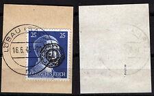 Löbau 15 Briefstück, 25 Pf. Hitler mit Aufdruck, gepr. Zierer BPP