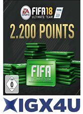 FIFA 18 FUT 2200 Points PC Key EA Origin Digital Code UK/EU