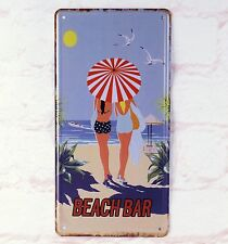 Beach Bar Decor Metal License Plate Retro Tin Signs Vintage Poster Man Cave