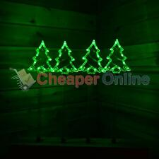Four 60cm Green LED Path Finder Christmas Tree Lights With Ground Spikes