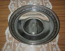 "LOVELY VINTAGE ESTATE WALLACE 10 1/4"" ROUND SILVER PLATE #4 CHARGER PLATE TRAY"