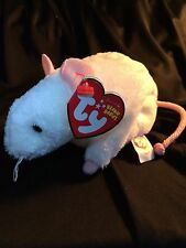 Ty Beanie Baby TINY the White Mouse (2010 Release) MWNMT Free Ship!! Read Note