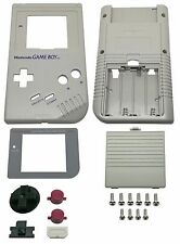 Game Boy Classic Gehäuse Display Scheibe Batterie Deckel Tasten Grau Grey Shell