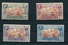 1923 ERITREA PROPAGANDA FIDE 4 VALORI CATALOGO SASSONE S. 12