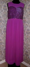Party dress ballgown by SIMPLY BE Size 16 Pink / purple Beads & sequins NWT
