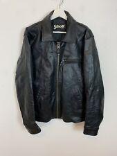 Vintage Schott NYC Leather Jacket Coat Top Black Retro 90's Large L Men's