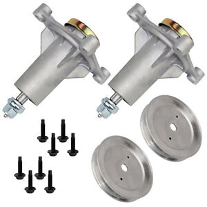 2 Spindle Assembly W/Pulley for Husqvarna Craftsman 285-585 532187292 587819701