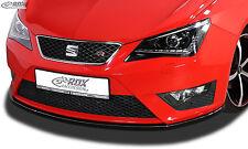 RDX Front Spoiler SEAT Ibiza 6J FR & 6P FR Cup Lippe Vorne Ansatz Schwert ABS