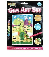 Gem Art Set 3D Diamond Painting Childrens Kids Crafting Kit Set Craft 4 Designs