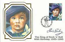 ELVIS PRESLEY - FIRST DAY COVER KING OF ROCK STAMPED IN GAMBIA