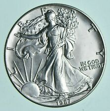 1987 American Eagle Silver Dollar Walking Liberty 1 Troy Oz US Investment Coin