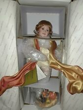 "ADRIANA THE HARVEST ANGEL:BY ANN TIMMERMAN & GEORGETOWN COLLECTION 13"" PORCELAIN"