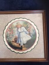 Home Interiors Homco Beautiful Mary's Garden Vintage Picture New in Box child