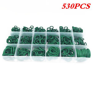Green Rubber O-Ring Seal Kit Fit for Car A/C System Air Conditioning Repair 530x