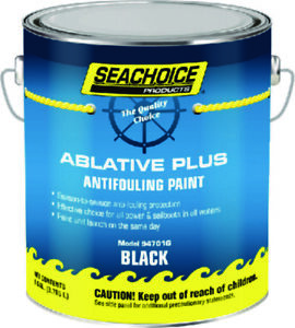 SeaChoice Boat Marine BLACK Ablative PLUS Antifouling Bottom Paint GALLON 94701G