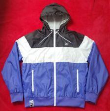 New Puma Archive(Vintage Look)Mens Purple/Black/White-Zip up Shell jacket-Size M
