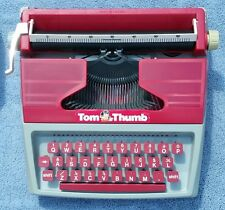 Childs Typewriter Tom Thumb Plastic Petite Toy Made in England Vintage 1976