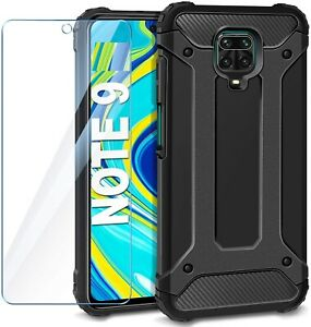 For Xiaomi Redmi Note 9 Pro Case Cover Heavy Duty Rugged & Glass Protector