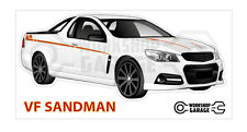 Holden VF - SANDMAN UTE WHITE - Sticker