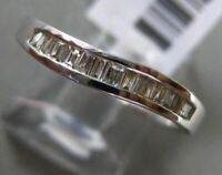 ESTATE .20CT BAGUETTE DIAMOND 14KT WHITE GOLD 3D WAVE WEDDING ANNIVERSARY RING