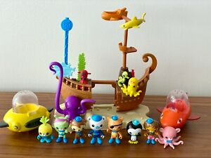 The Octonauts rare pirate Shipwreck BUNDLE, full set of all Octonauts included!