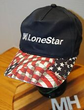 """""""LONESTAR"""" HAT. EMBROIDERED LETTERING WITH STARS AND STRIPES BILL. SNAPBACK ADJ."""