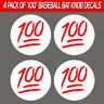 Baseball Softball 100 Emoji Bat Knob Decal Sticker